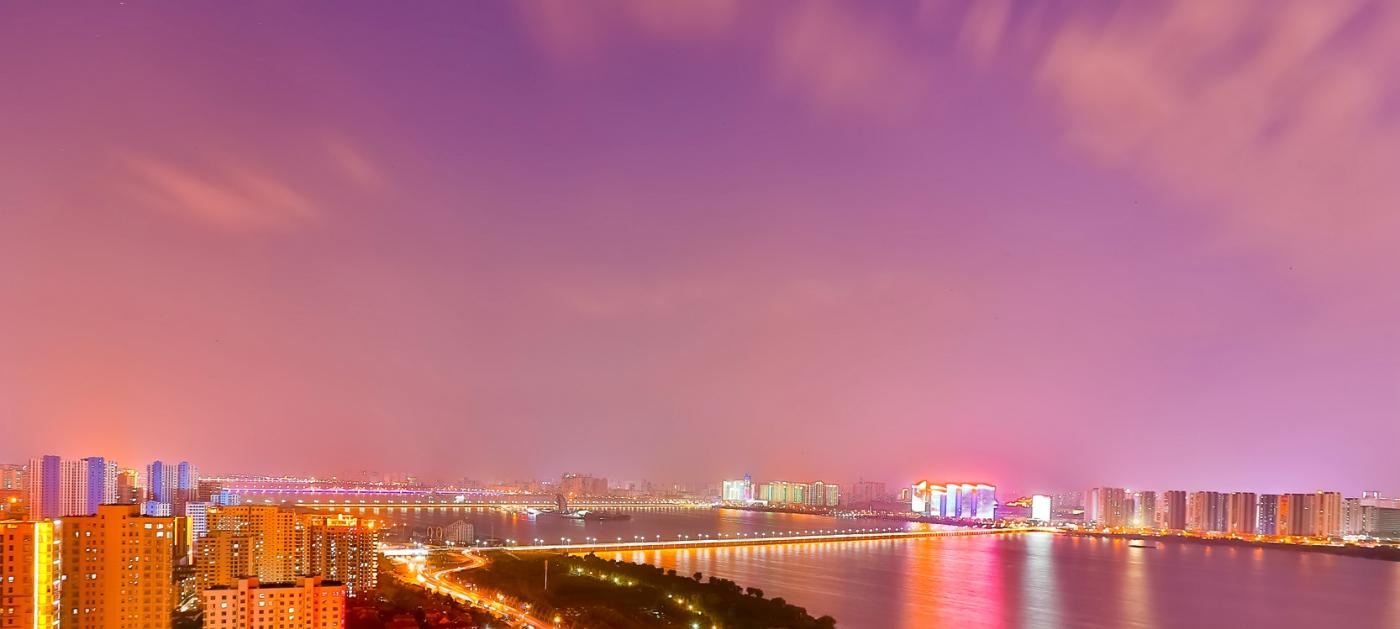 临沂暴雨以前的那个夜晚 从河东看临沂是这个样子的_图1-9