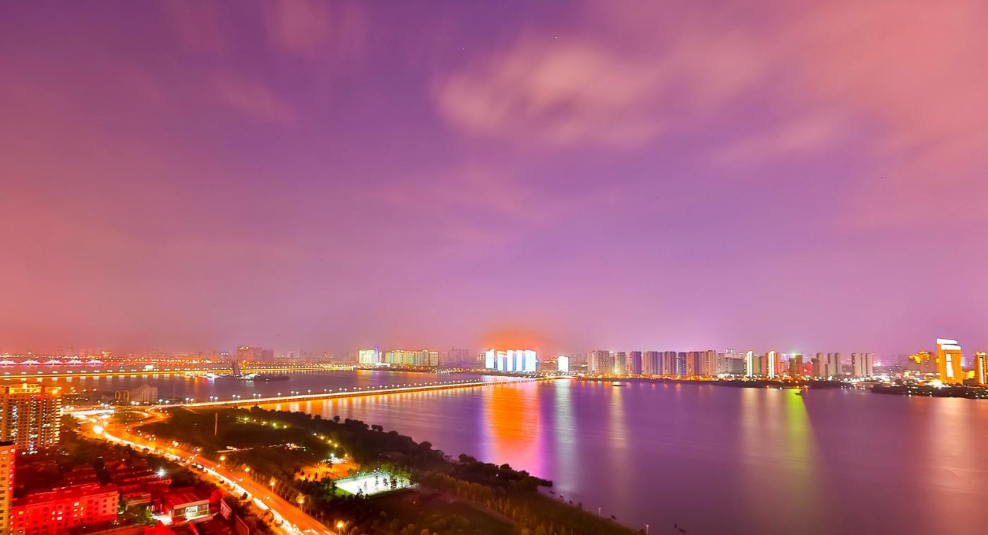 临沂暴雨以前的那个夜晚 从河东看临沂是这个样子的_图1-11
