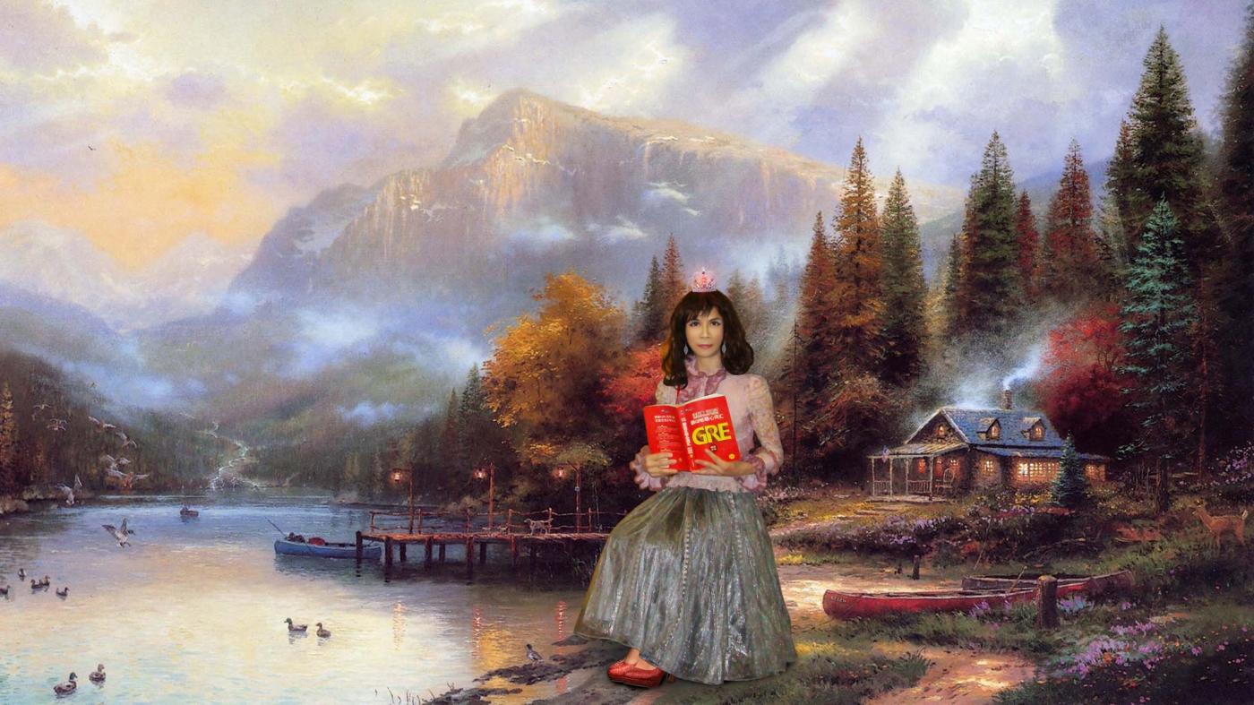 蕾丝花边袖洋装 英伦宫廷复古蓬蓬裙公主裙 幸福像花儿开了_图1-3