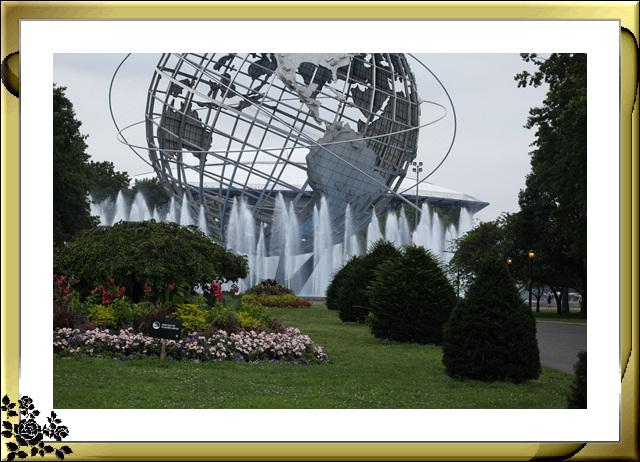 法拉盛可乐娜公园地球仪喷水池风光_图1-3