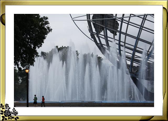 法拉盛可乐娜公园地球仪喷水池风光_图1-5