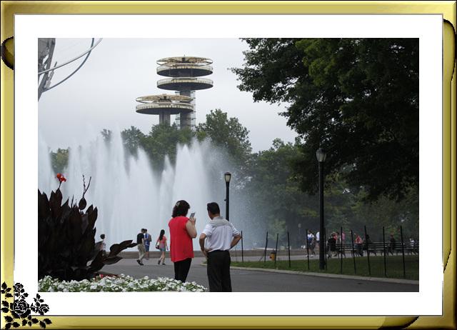 法拉盛可乐娜公园地球仪喷水池风光_图1-1