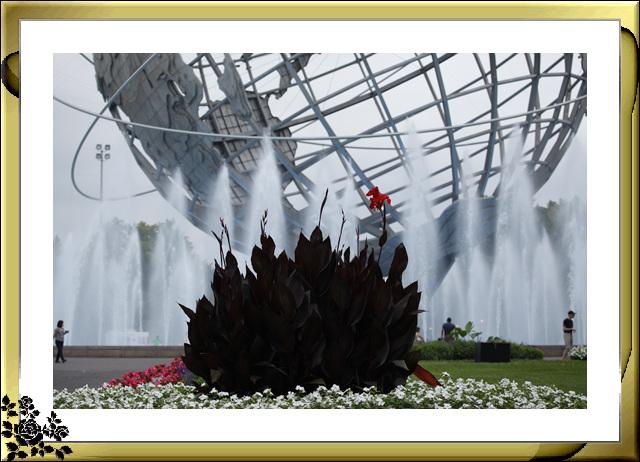 法拉盛可乐娜公园地球仪喷水池风光_图1-14
