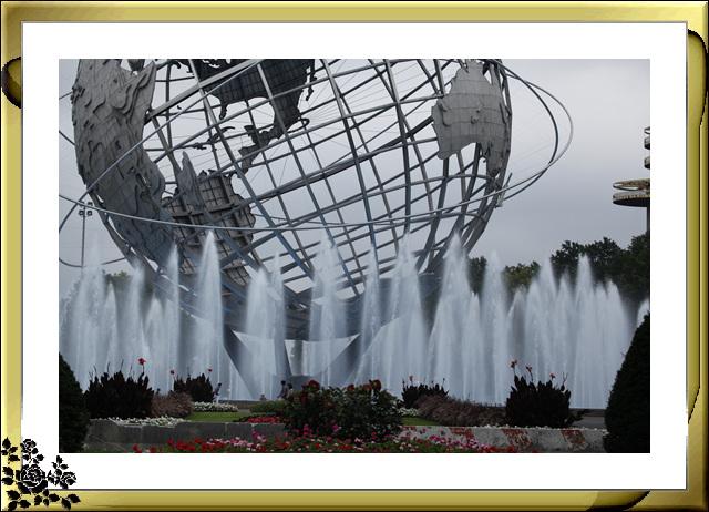 法拉盛可乐娜公园地球仪喷水池风光_图1-15
