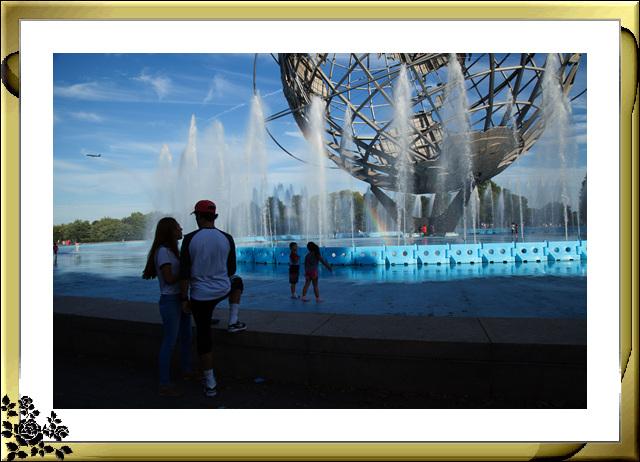 法拉盛可乐娜公园地球仪喷水池夜景_图1-6