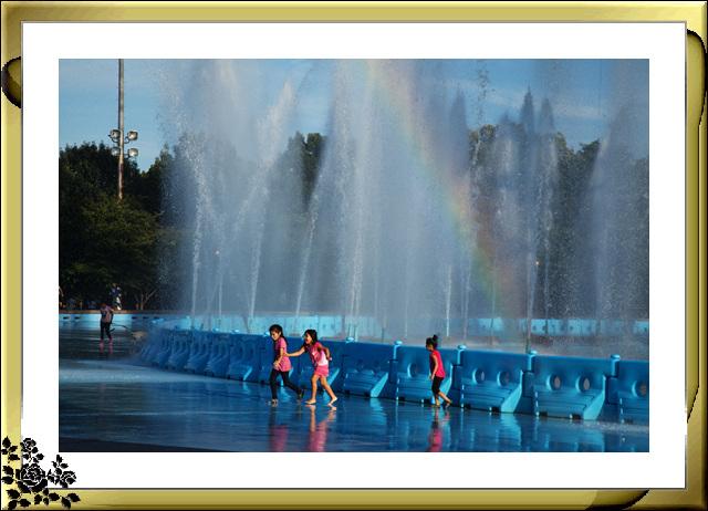 法拉盛可乐娜公园地球仪喷水池夜景_图1-7