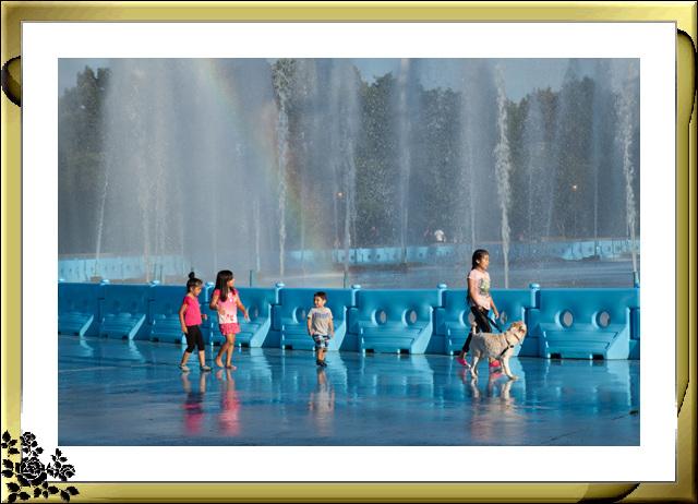 法拉盛可乐娜公园地球仪喷水池夜景_图1-9