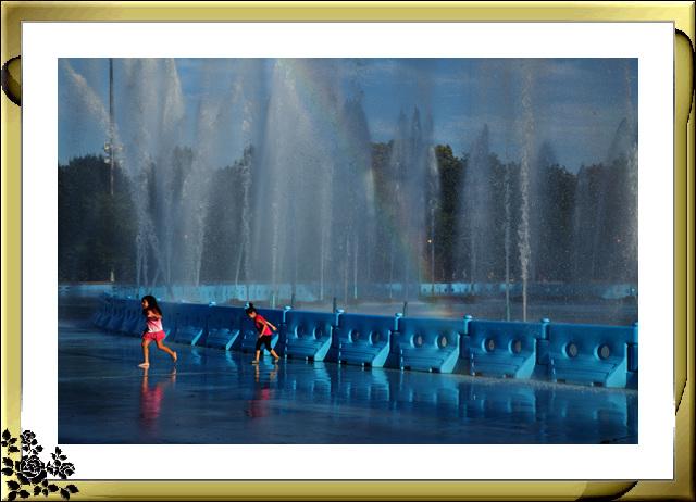 法拉盛可乐娜公园地球仪喷水池夜景_图1-12