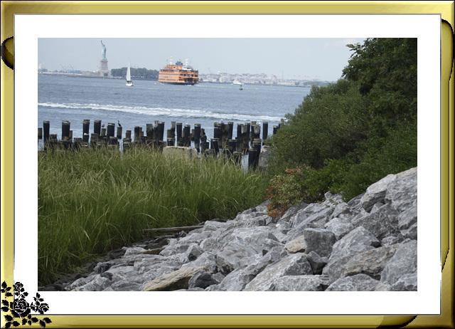 布鲁克林大桥公园是新一代的濱河公园,是绿地公园,视野开阔,欣赏曼哈顿天际线的好 . ..._图1-8