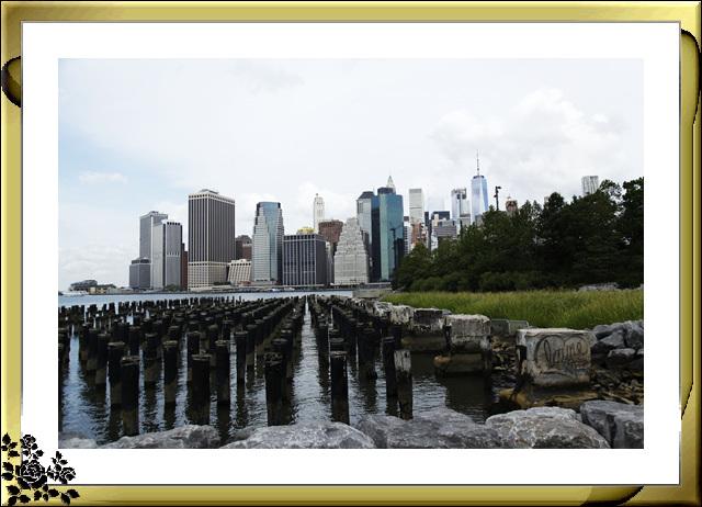 布鲁克林大桥公园是新一代的濱河公园,是绿地公园,视野开阔,欣赏曼哈顿天际线的好 . ..._图1-9