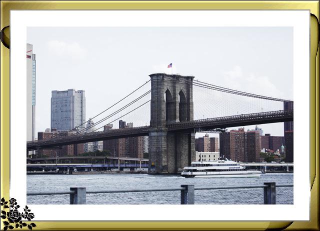 布鲁克林大桥公园是新一代的濱河公园,是绿地公园,视野开阔,欣赏曼哈顿天际线的好 . ..._图1-1