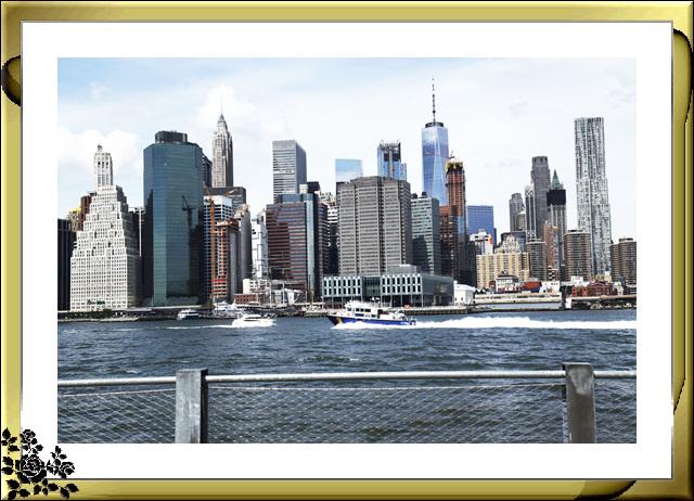 布鲁克林大桥公园是新一代的濱河公园,是绿地公园,视野开阔,欣赏曼哈顿天际线的好 . ..._图1-23