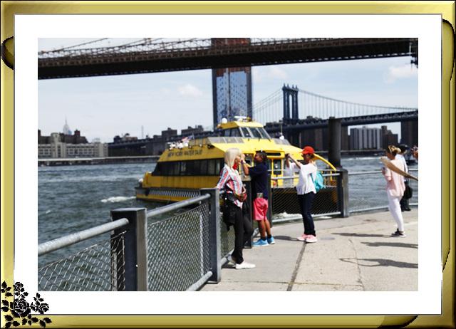 布鲁克林大桥公园是新一代的濱河公园,是绿地公园,视野开阔,欣赏曼哈顿天际线的好 . ..._图1-30