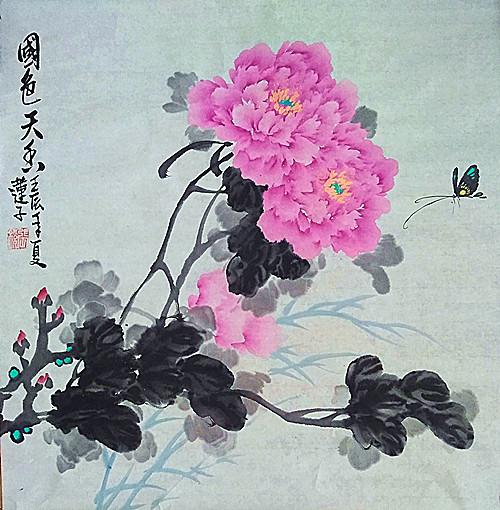 艺术家张炳瑞香写意国色《国艳唯动人》_图1-2