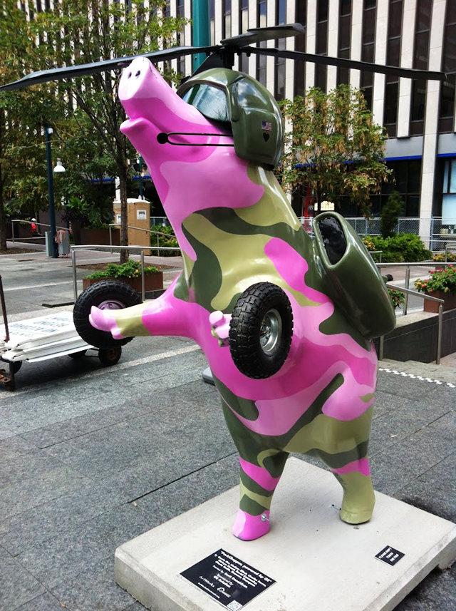 克兰夫兰城市雕塑......猪_图1-9