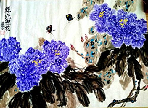 张炳瑞香绘画作品国色系列之《大国之香,绝艳蕴德》_图1-1