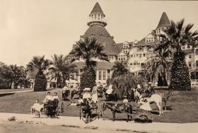 圣地亚哥科罗娜多酒店的老照片