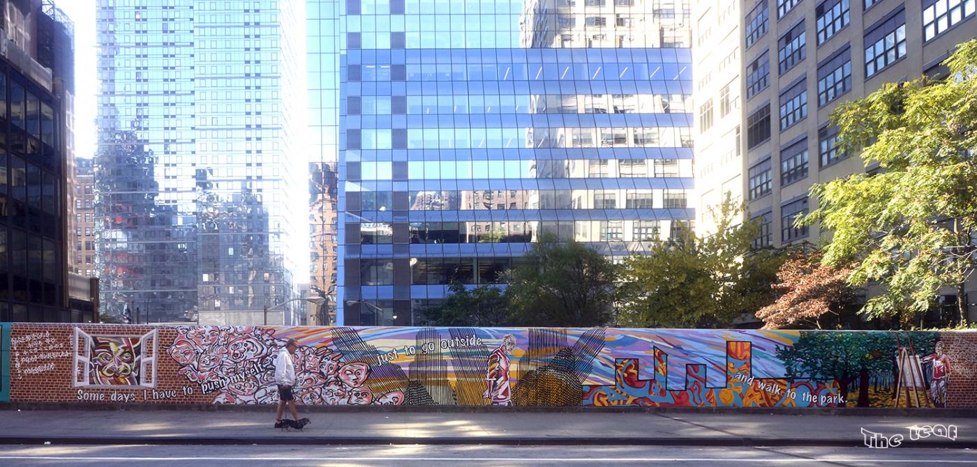 34街路上桥画廊        【一片叶】_图1-2
