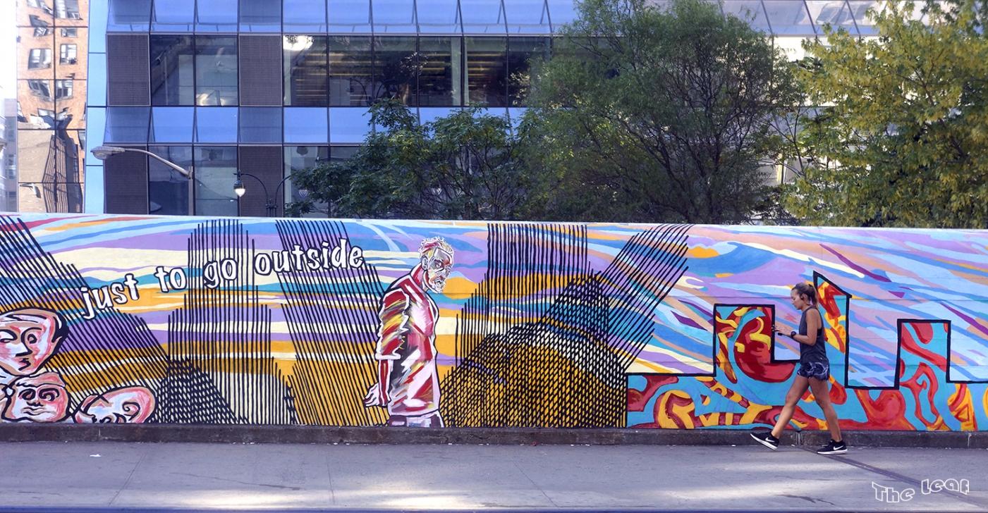 34街路上桥画廊        【一片叶】_图1-3