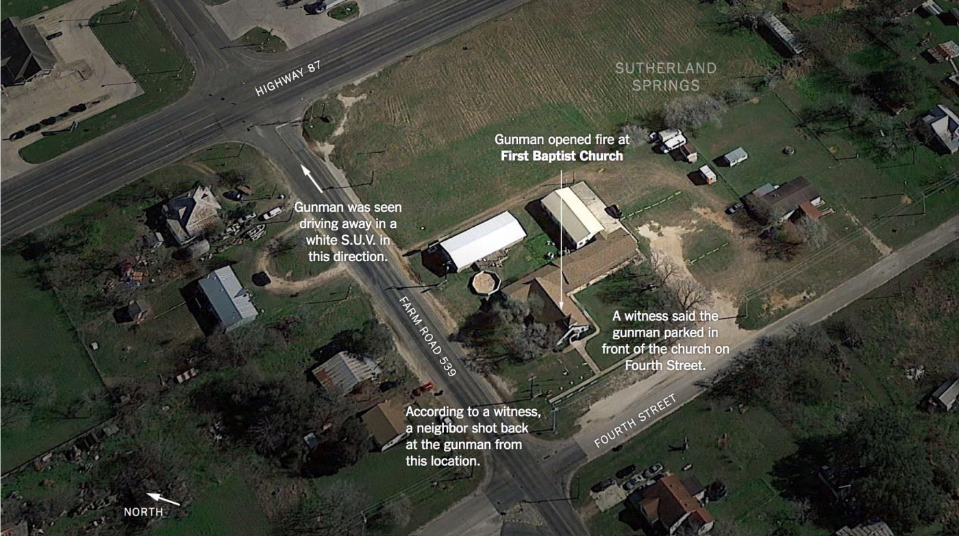 德州枪击案凶犯可能被拥枪居民射杀_图1-1