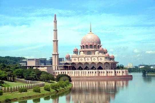 马来西亚的水上清真寺_图1-5