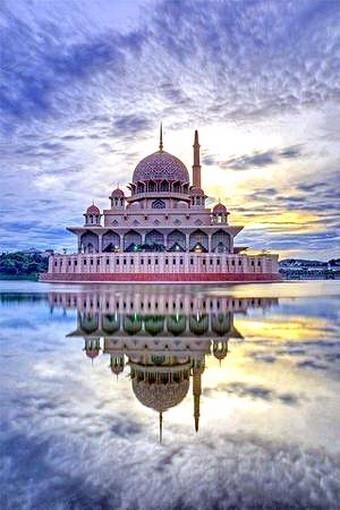 马来西亚的水上清真寺_图1-6