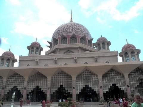 马来西亚的水上清真寺_图1-8