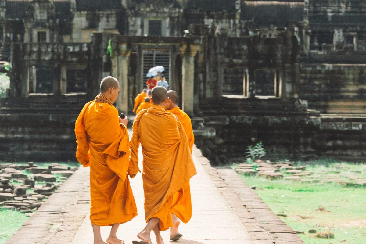 【杆说杆摄】行走柬埔寨 春夏秋冬又一春 柬埔寨幸福的小和尚们 ..._图1-12