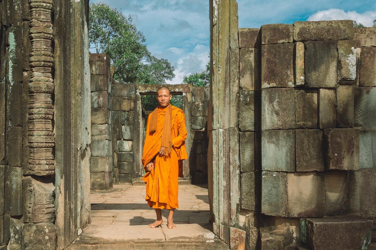 【杆说杆摄】行走柬埔寨 春夏秋冬又一春 柬埔寨幸福的小和尚们 ..._图1-13