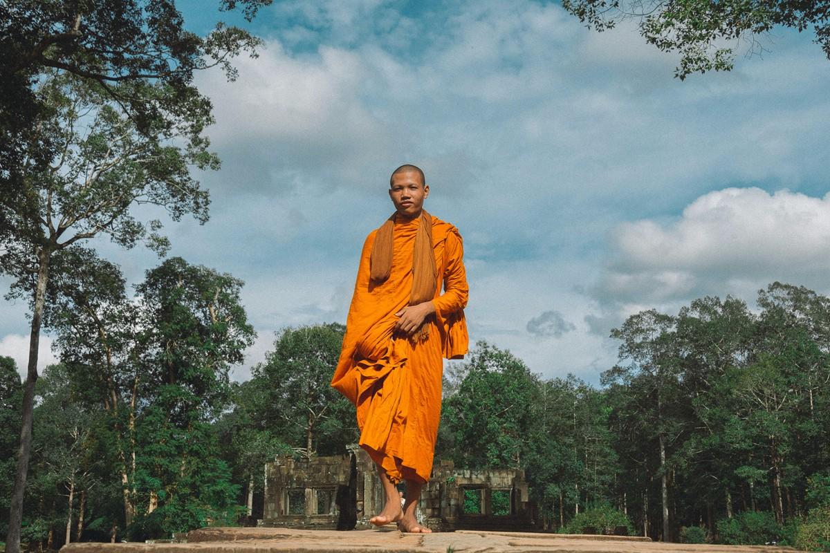 【杆说杆摄】行走柬埔寨 春夏秋冬又一春 柬埔寨幸福的小和尚们 ..._图1-14