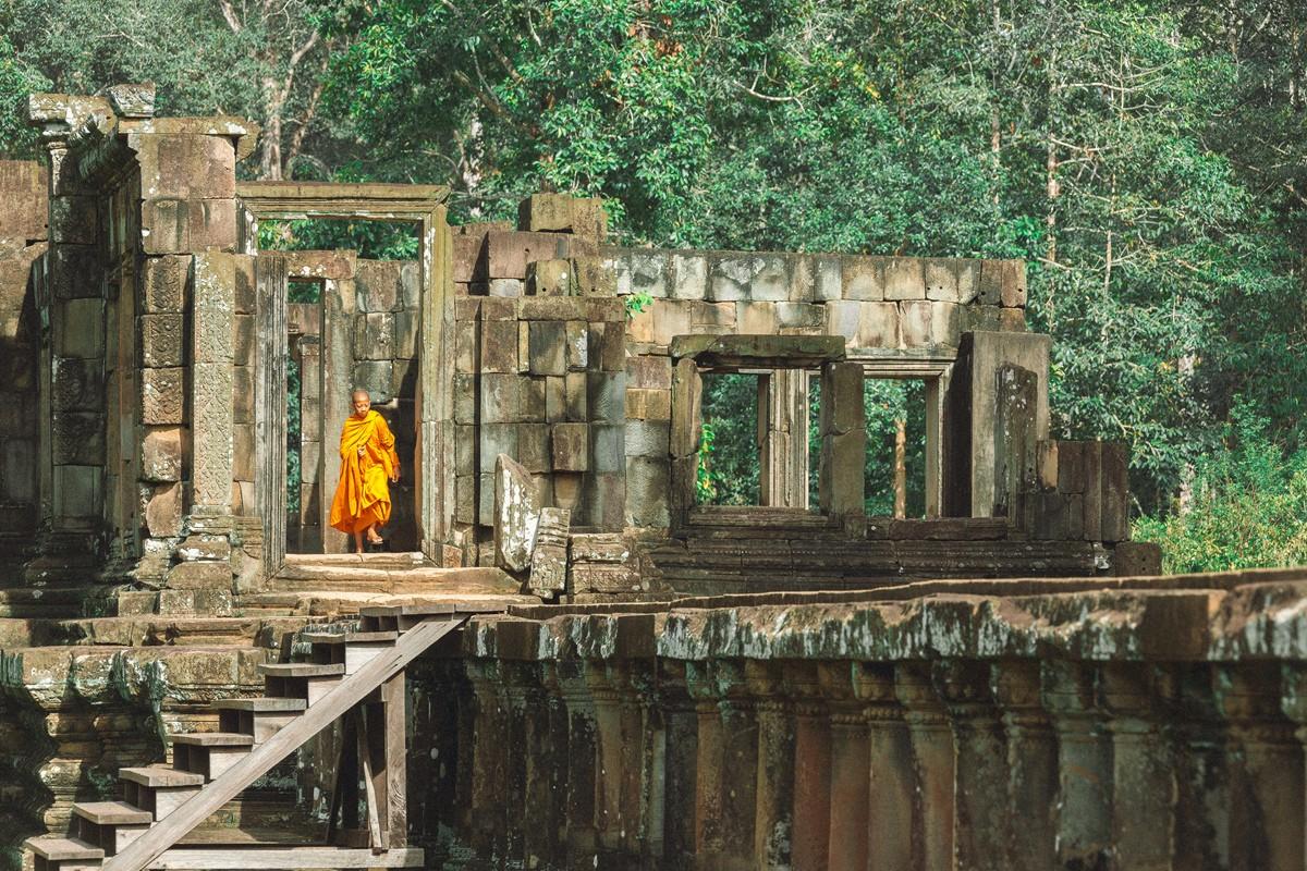 【杆说杆摄】行走柬埔寨 春夏秋冬又一春 柬埔寨幸福的小和尚们 ..._图1-15