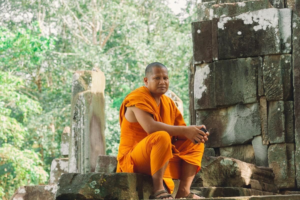【杆说杆摄】行走柬埔寨 春夏秋冬又一春 柬埔寨幸福的小和尚们 ..._图1-20