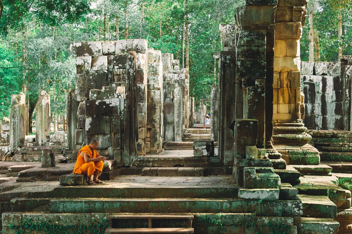 【杆说杆摄】行走柬埔寨 春夏秋冬又一春 柬埔寨幸福的小和尚们 ..._图1-21
