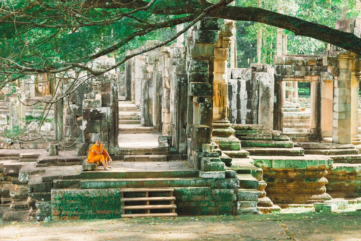 【杆说杆摄】行走柬埔寨 春夏秋冬又一春 柬埔寨幸福的小和尚们 ..._图1-22