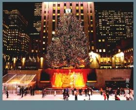 纽约洛克菲勒中心的圣诞节