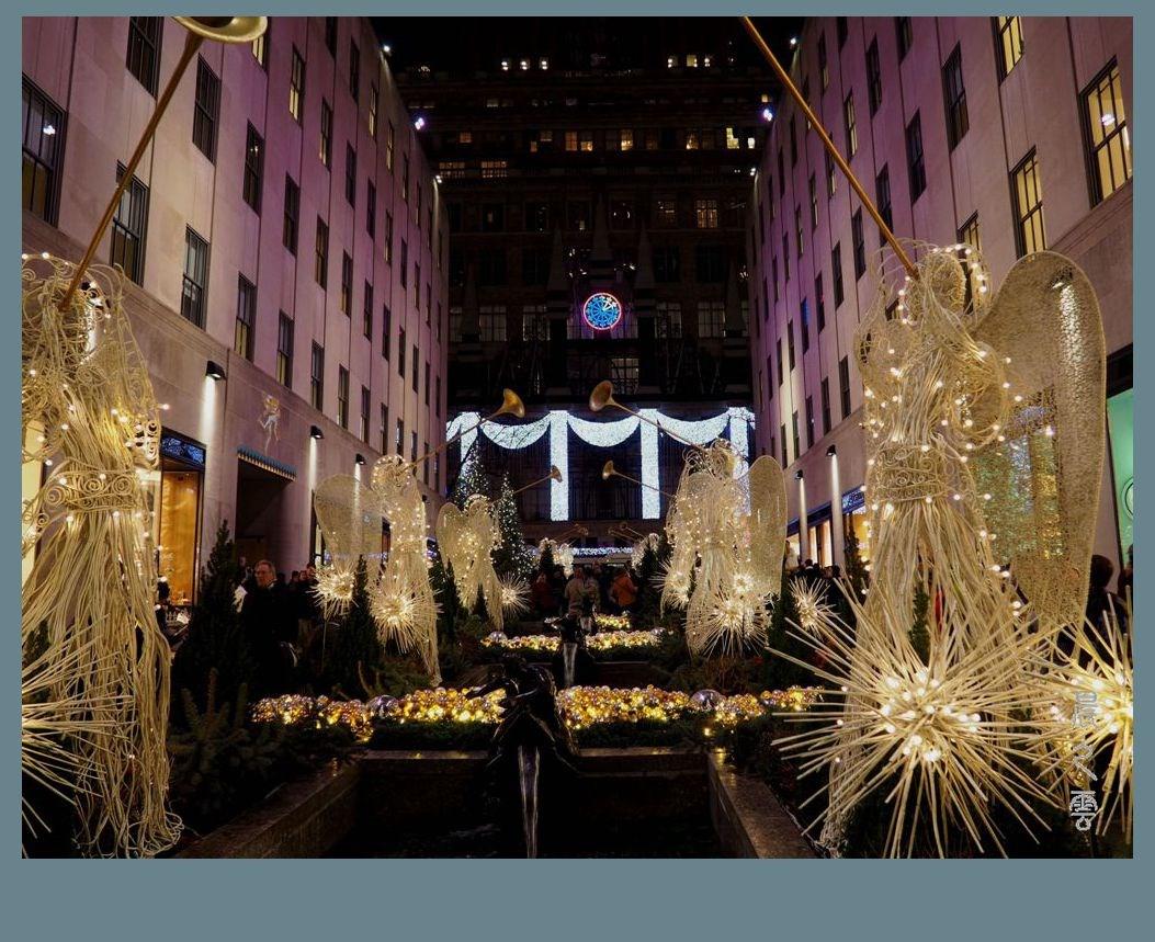 纽约洛克菲勒中心的圣诞节_图1-2