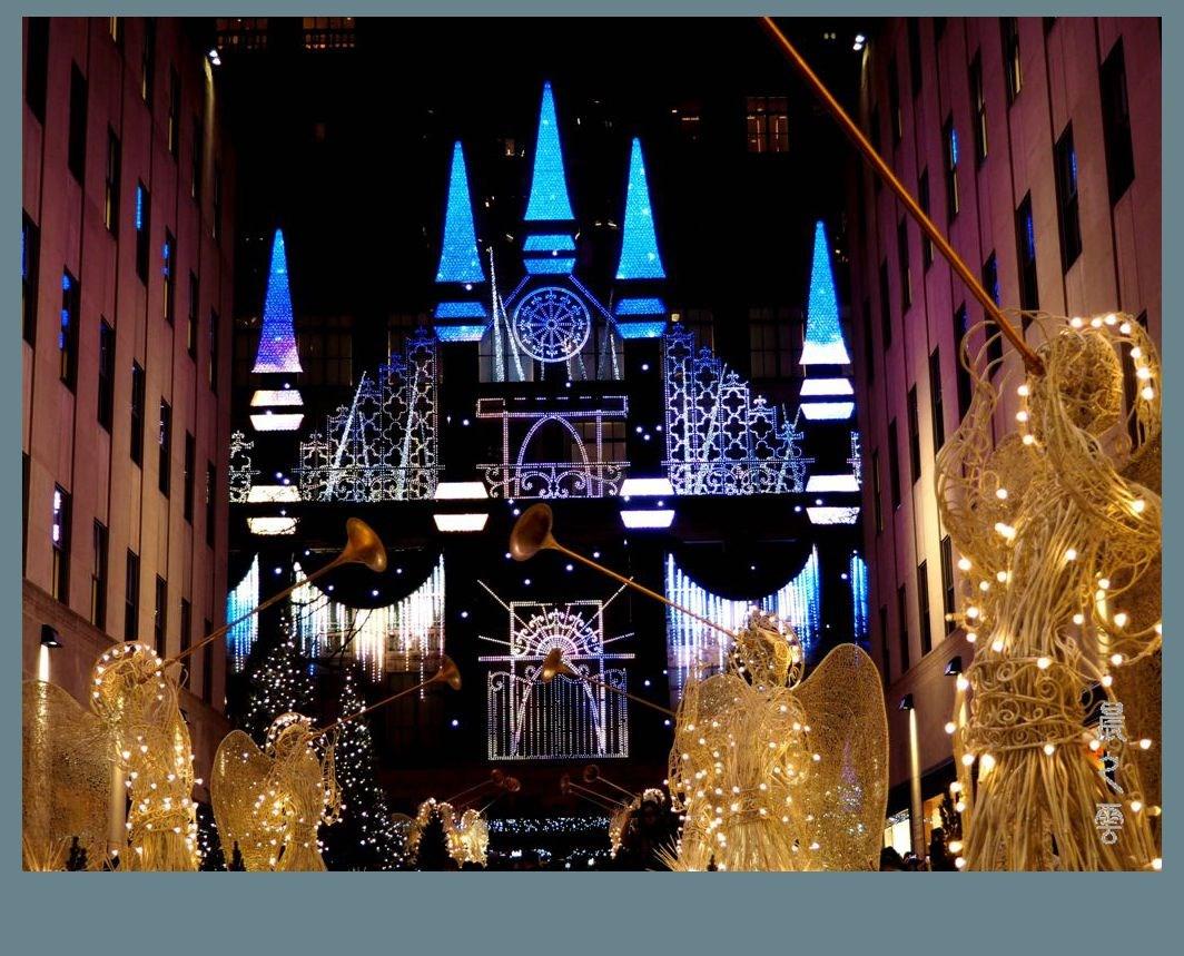 纽约洛克菲勒中心的圣诞节_图1-4