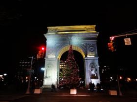 华盛顿广场拱门  夜拍