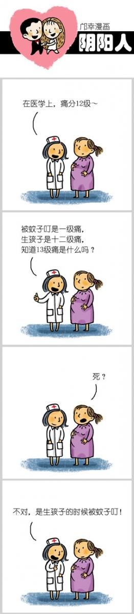 【邝幸漫画】13级痛!_图1-1