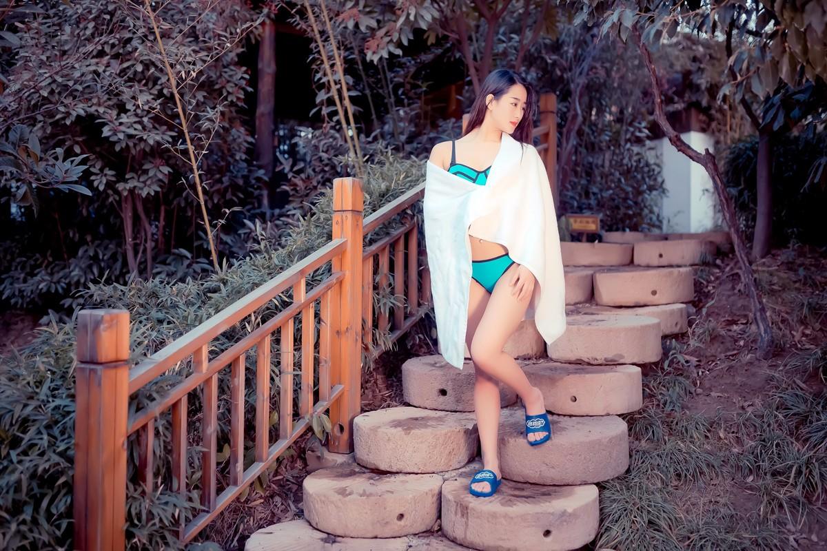 【杆说杆摄】临沂温泉宝贝刘欣泳装出镜 差点冻感冒了 请用一种积极的心态欣赏点评 ..._图1-7