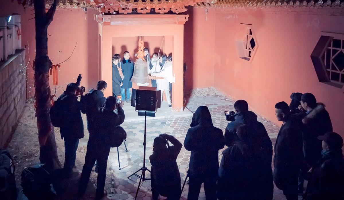 沂蒙摄影人在蒙山之巅迎接新年的第一缕阳光_图1-2