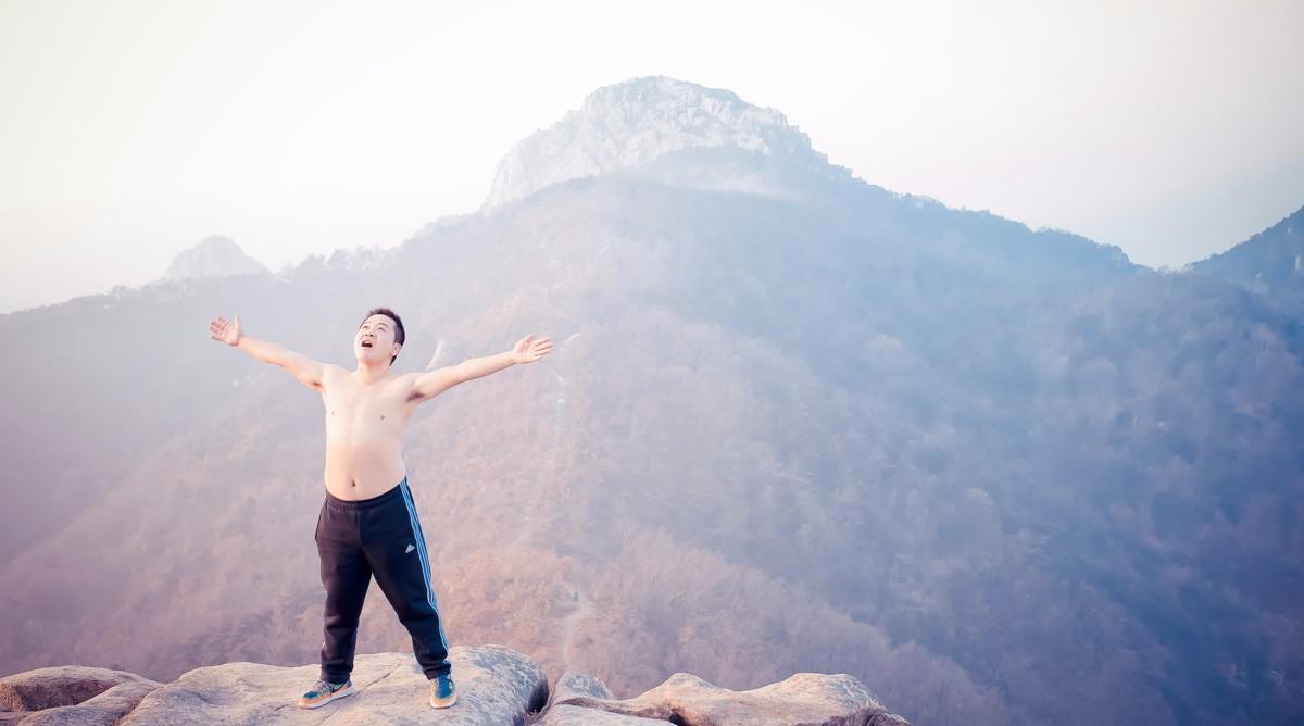 沂蒙摄影人在蒙山之巅迎接新年的第一缕阳光_图1-4