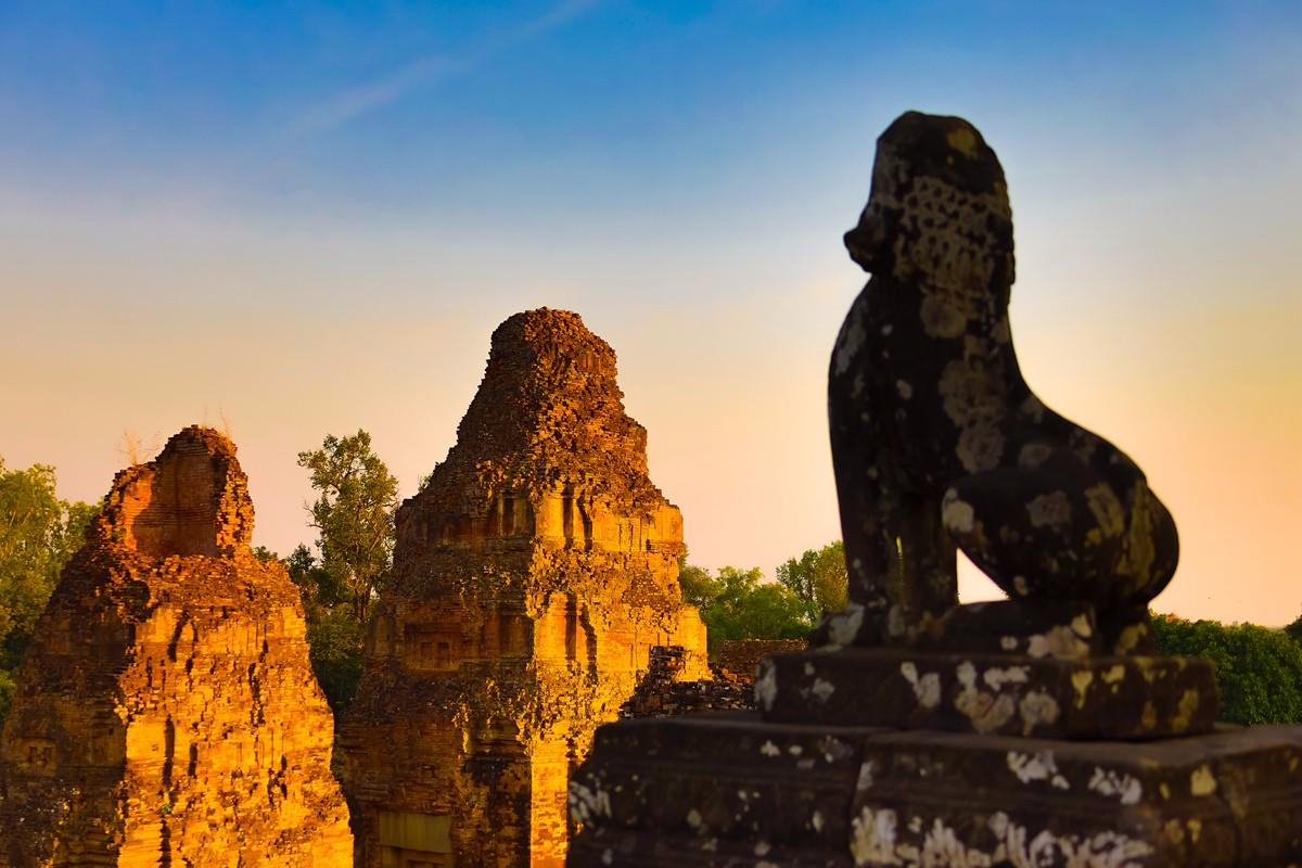 夕阳西下 曾经的火葬场变成名副其实的变身塔 行摄柬埔寨之比粒寺 ..._图1-7