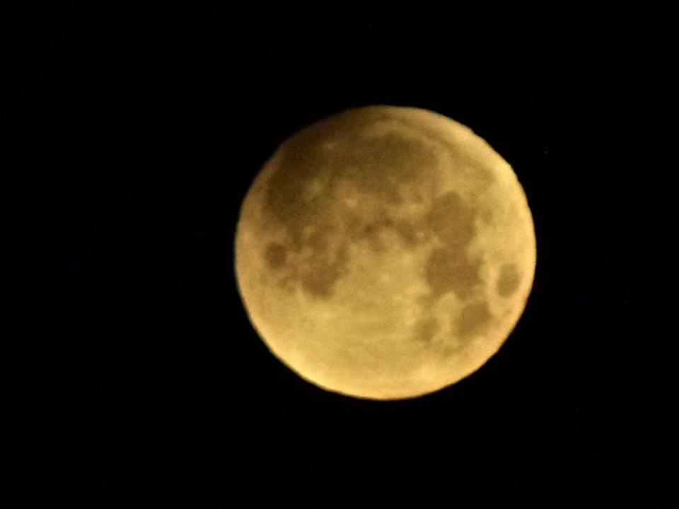 【爱摄影】今早的超级月亮兼一点点月食_图1-3