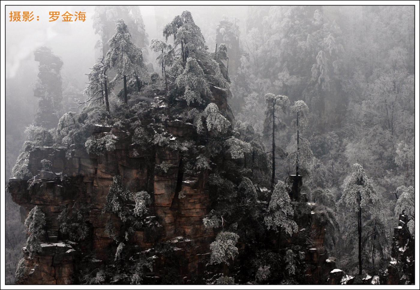 武陵源的雪(一)_图1-2