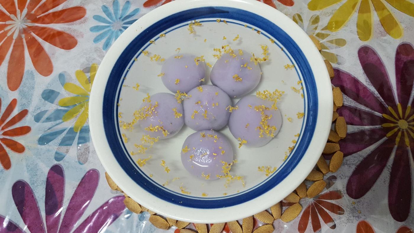 [田螺随拍]分享我做的紫汤圆、糯米糍_图1-3