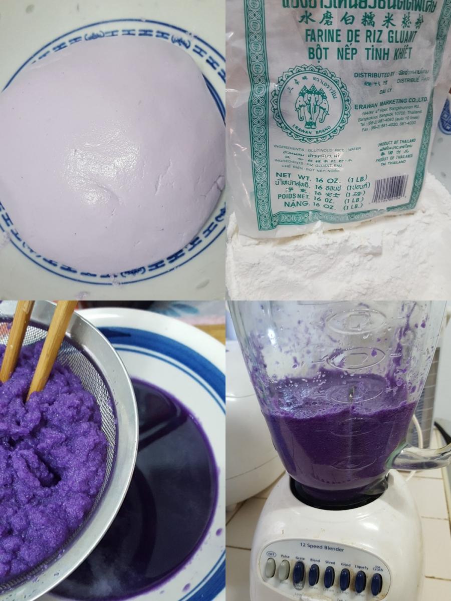 [田螺随拍]分享我做的紫汤圆、糯米糍_图1-12
