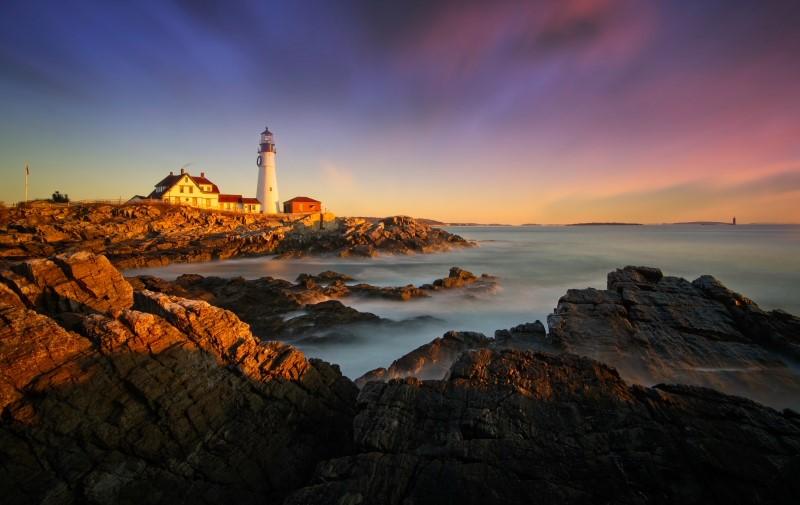 曙光初现_Portland head lighthouse【心想事成】_图1-2
