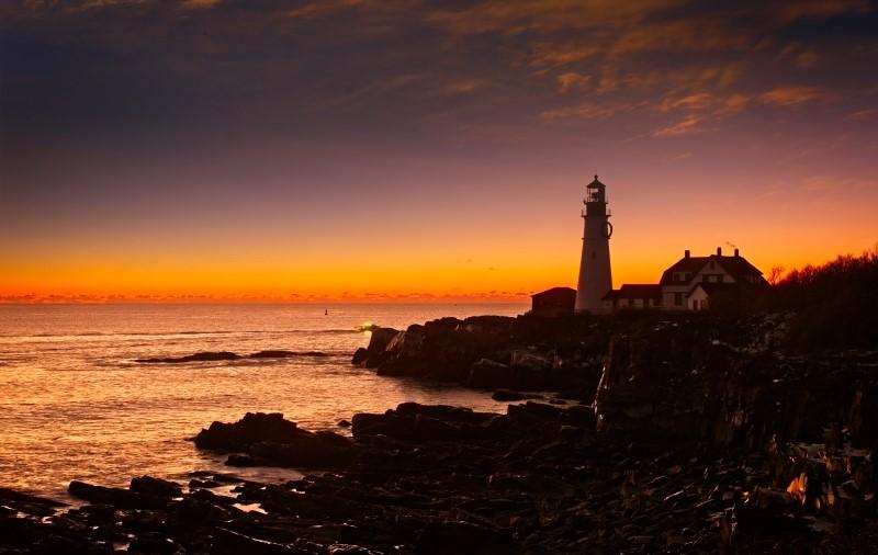 曙光初现_Portland head lighthouse【心想事成】_图1-1