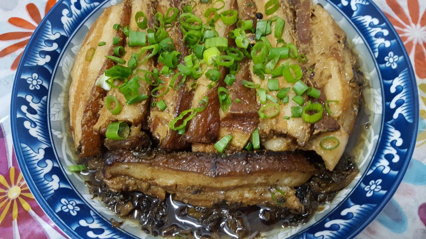 [田螺随拍]分享-我做的梅菜扣肉_图1-2